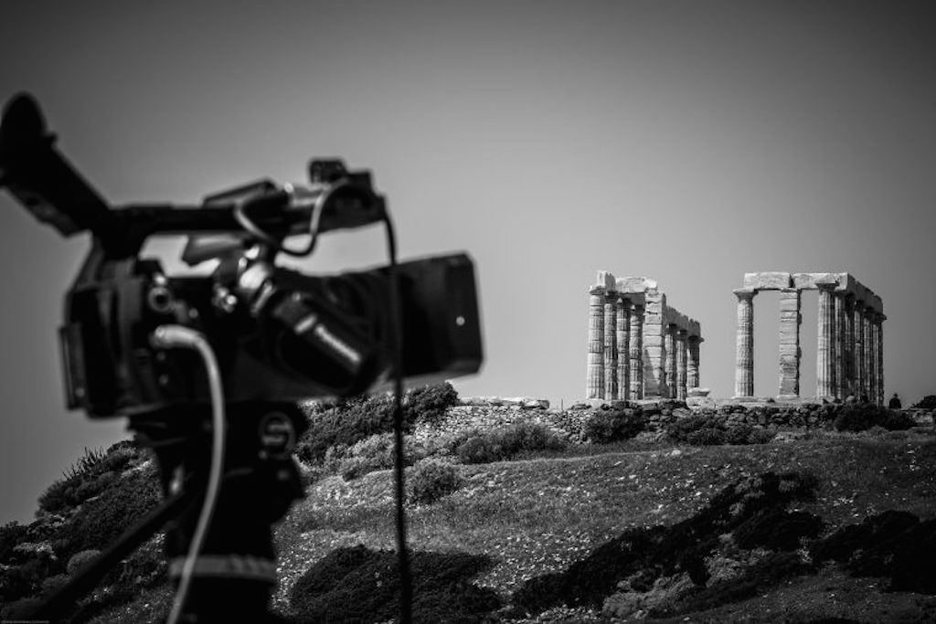 """BBC's shooting of """"The Little Drummer Girl"""" at Cape Sounio over"""