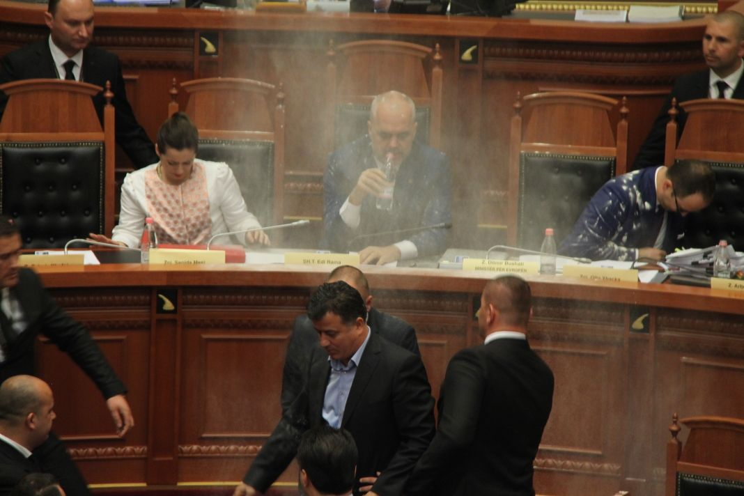 Tense situation in the Albanian parliament