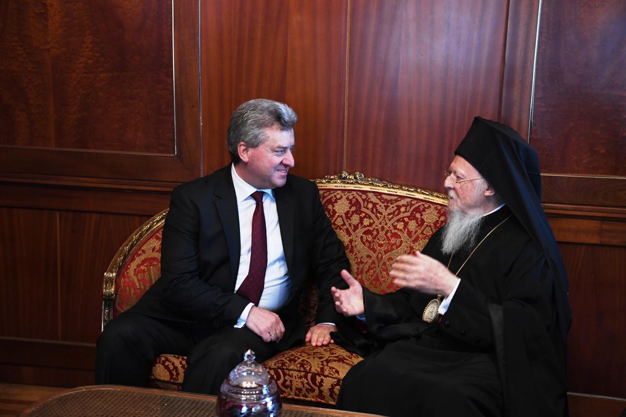 fYROMacedonia's president visits Ecumenical PatriarchBartholomew