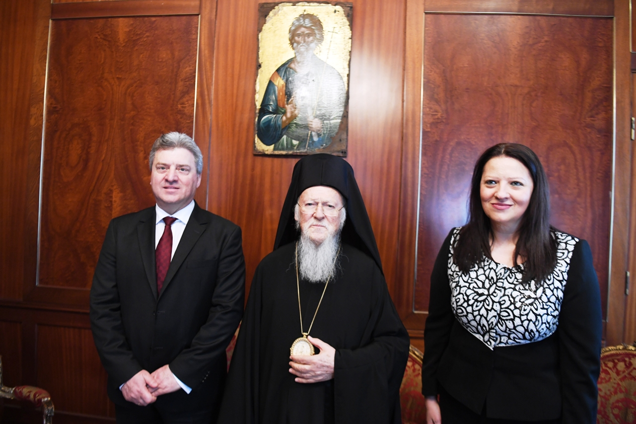 O Πρόεδρος της πΓΔ της Μακεδονίας επισκέφθηκε τον Οικουμενικο Πατριάρχη