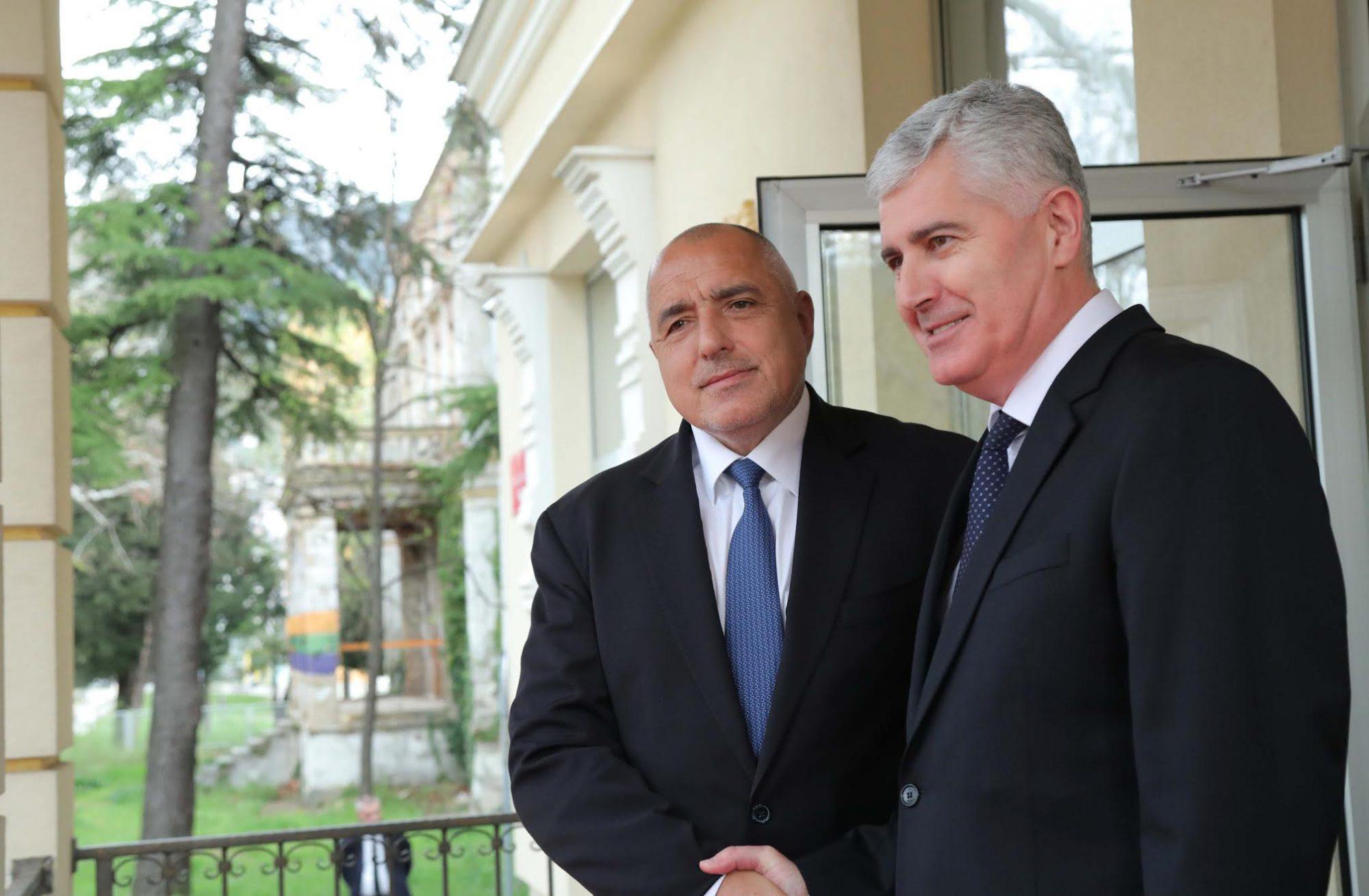 Bulgarian PM Borissov in BiH: Balkans need peace to achieve prosperity