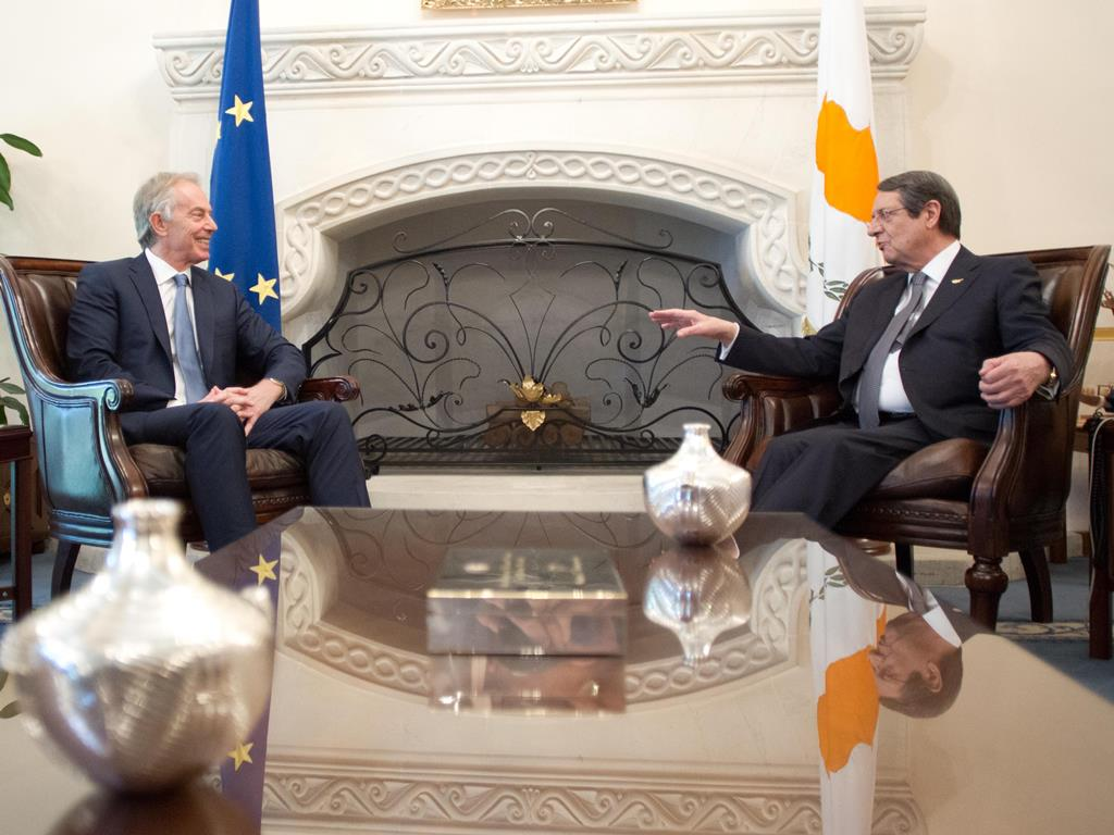 President Anastasiades received Tony Blair