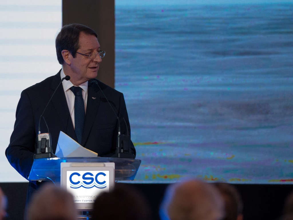 President Anastasiades opened the 29th Annual General Assembly of the Cypriot Shipping Chamber