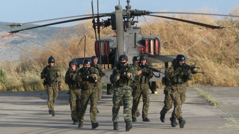 Joint military exercise of Greece, Bulgaria, Romania, Serbia in Attica