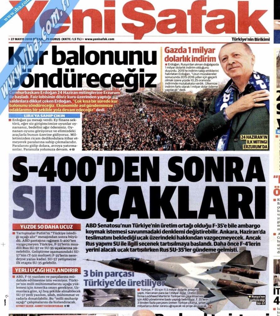 Η Τουρκία εξετάζει το ενδεχόμενο αγοράς ρωσικών μαχητικών λόγω του εμπάργκο για τα F-35