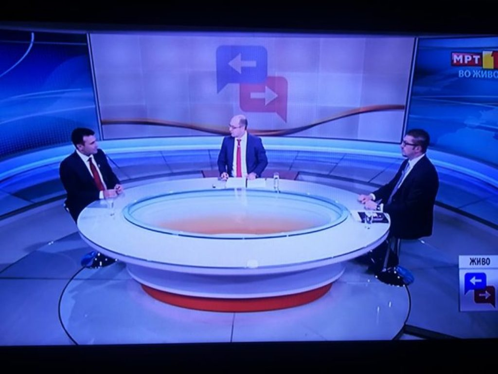 Zaev and Mickoscki hold a televised debate on the issue of the name