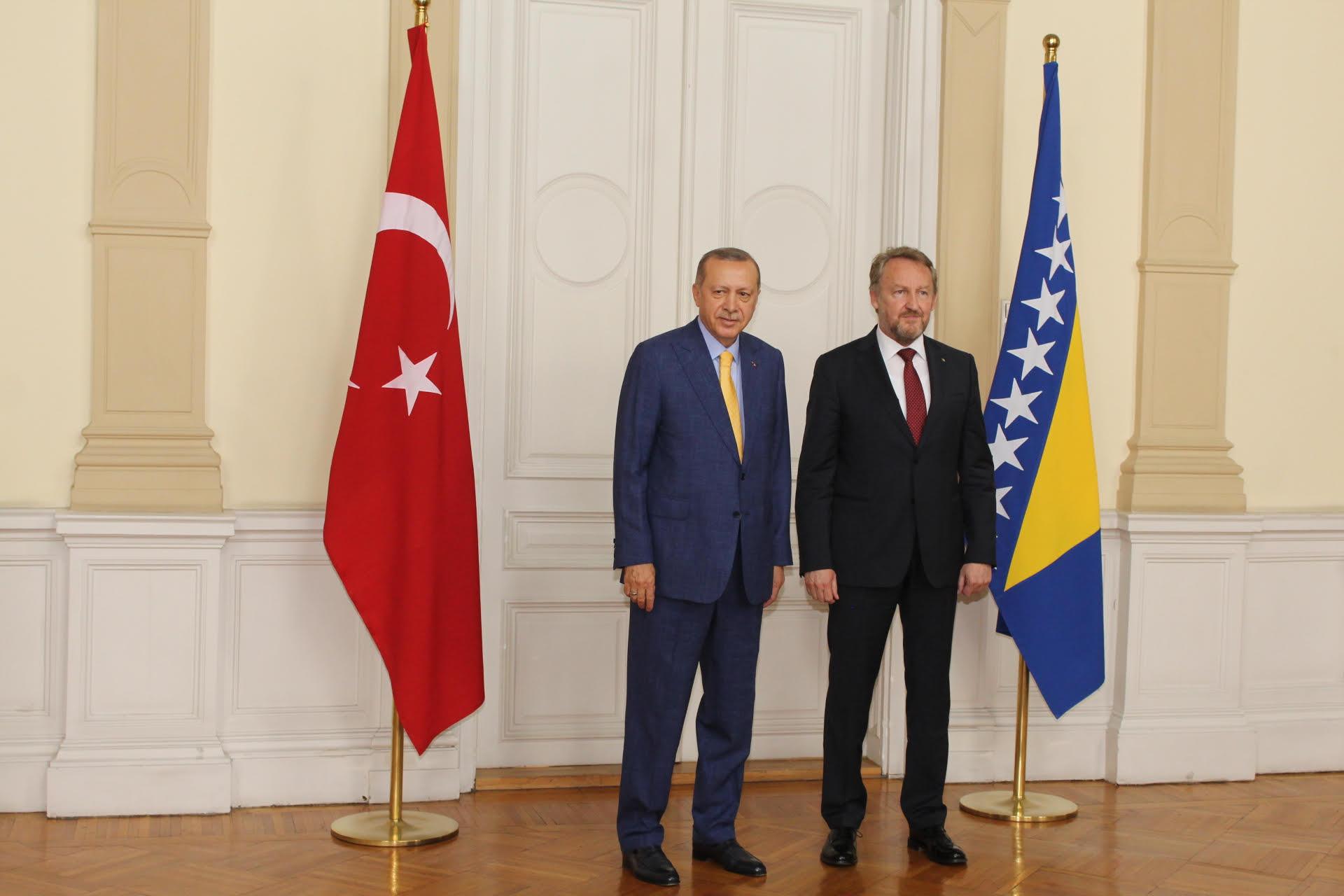 Erdogan in Bosnia Herzegovina on an official visit