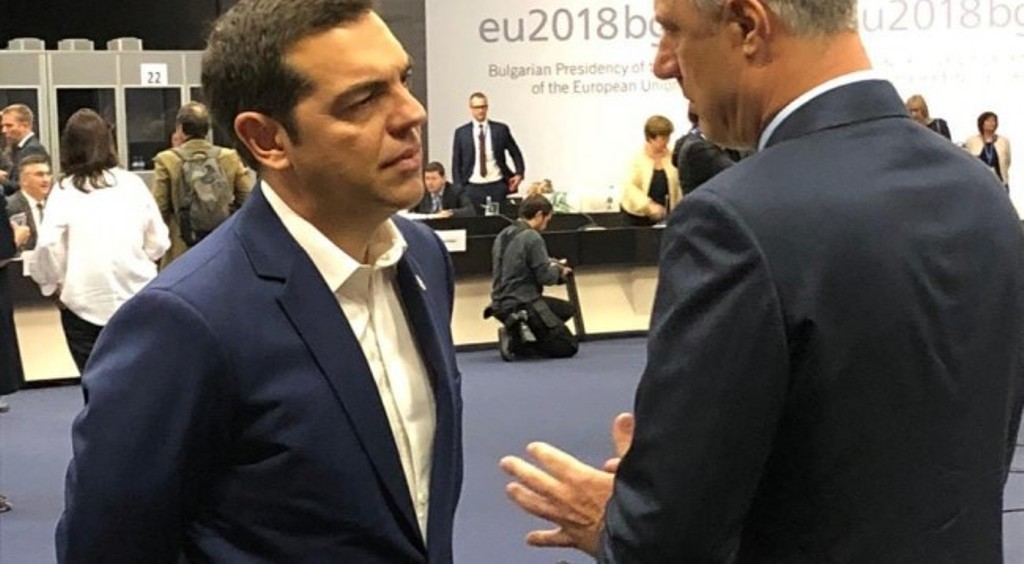 President Thaci meets PM Tsipras and demands Greece's support