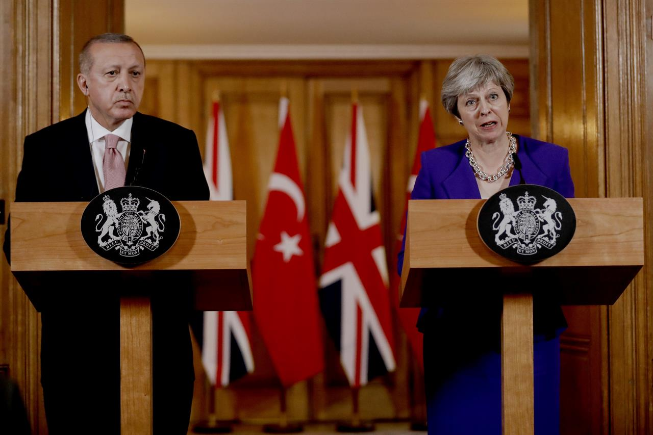 Much of May-Erdogan presser in London about Gaza, democratic values