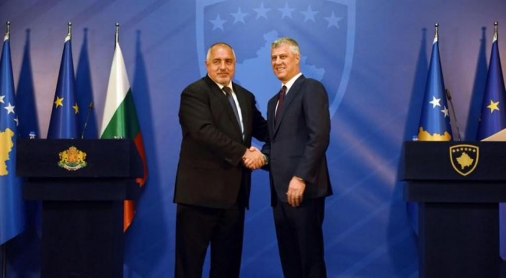 President Thaci and Bulgarian PM Borissov discuss the EU summit