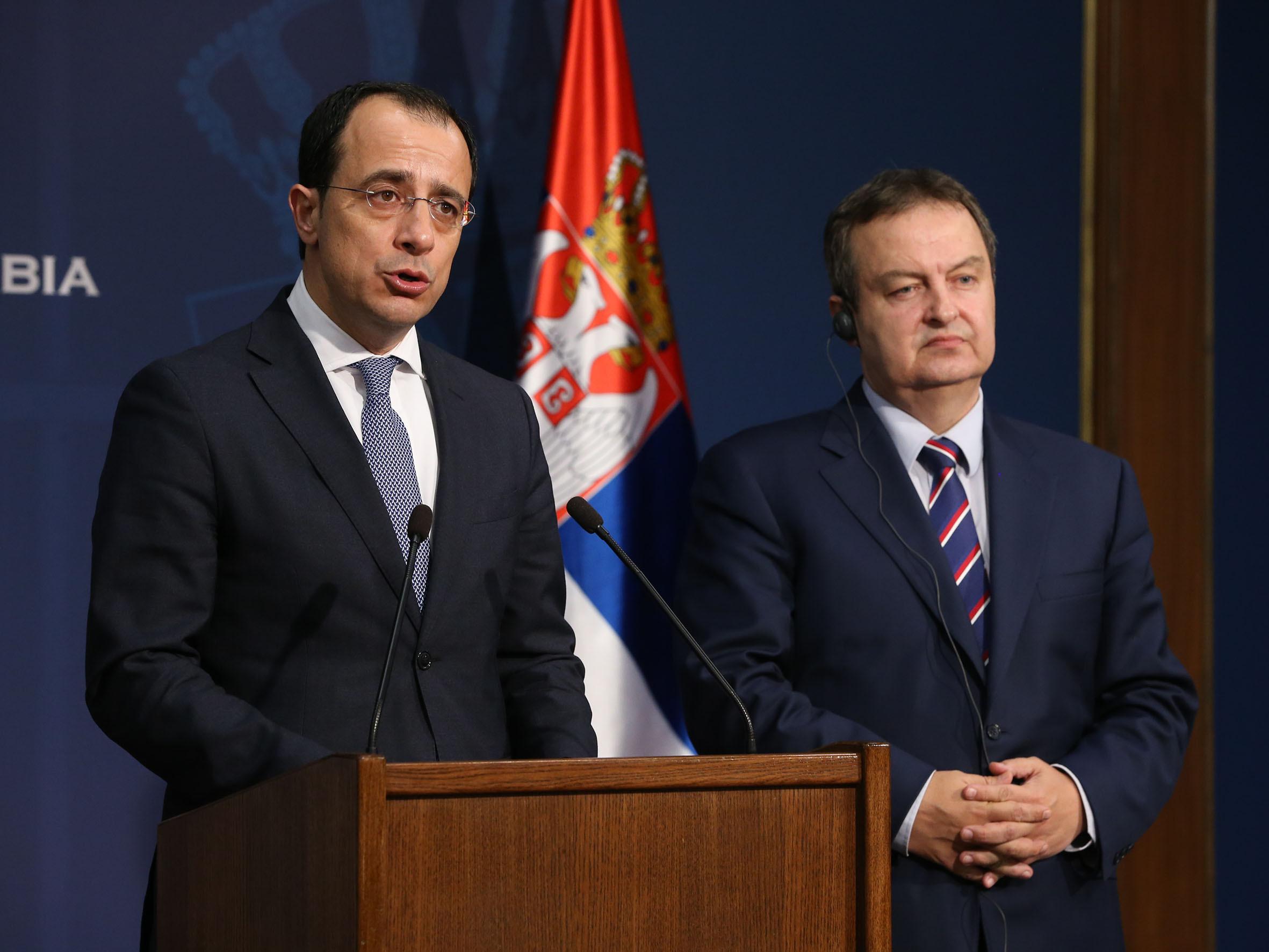 Οι Υπουργοί Εξωτερικών Κύπρου – Σερβίας συναντήθηκαν στο Βελιγράδι