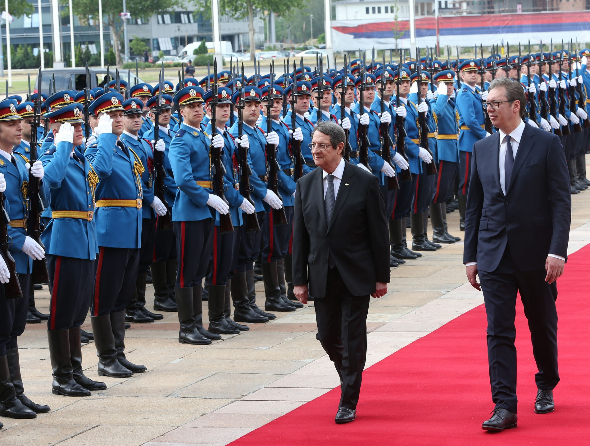 President Anastasiades met with the President of Serbia