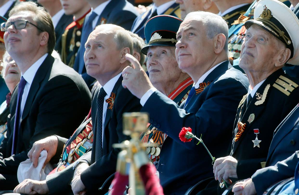Putin celebrated Victory Day with Netanyahu and Vucic