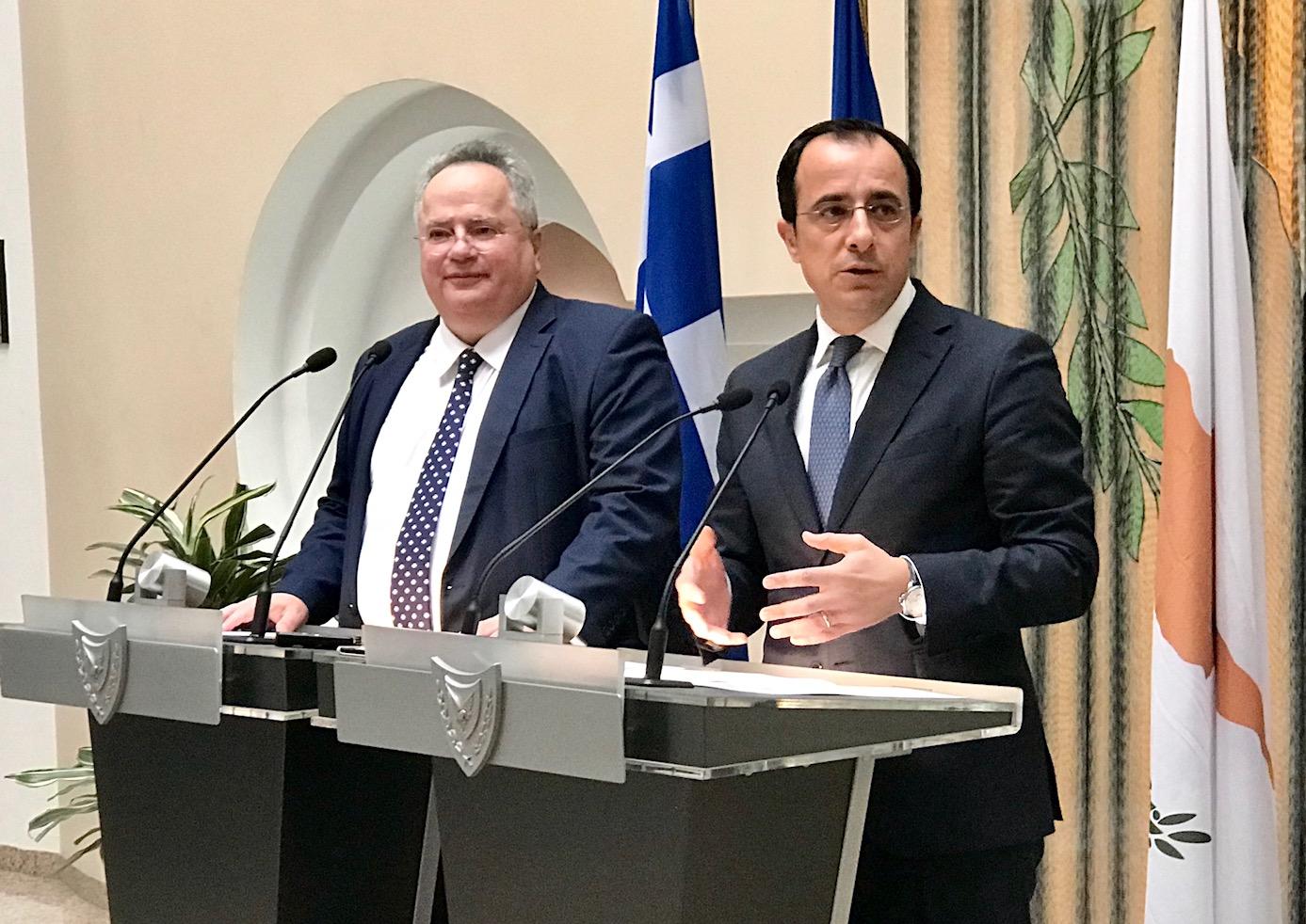 Christodoulides, Kotzias agree on initiatives for upgrading international partnerships