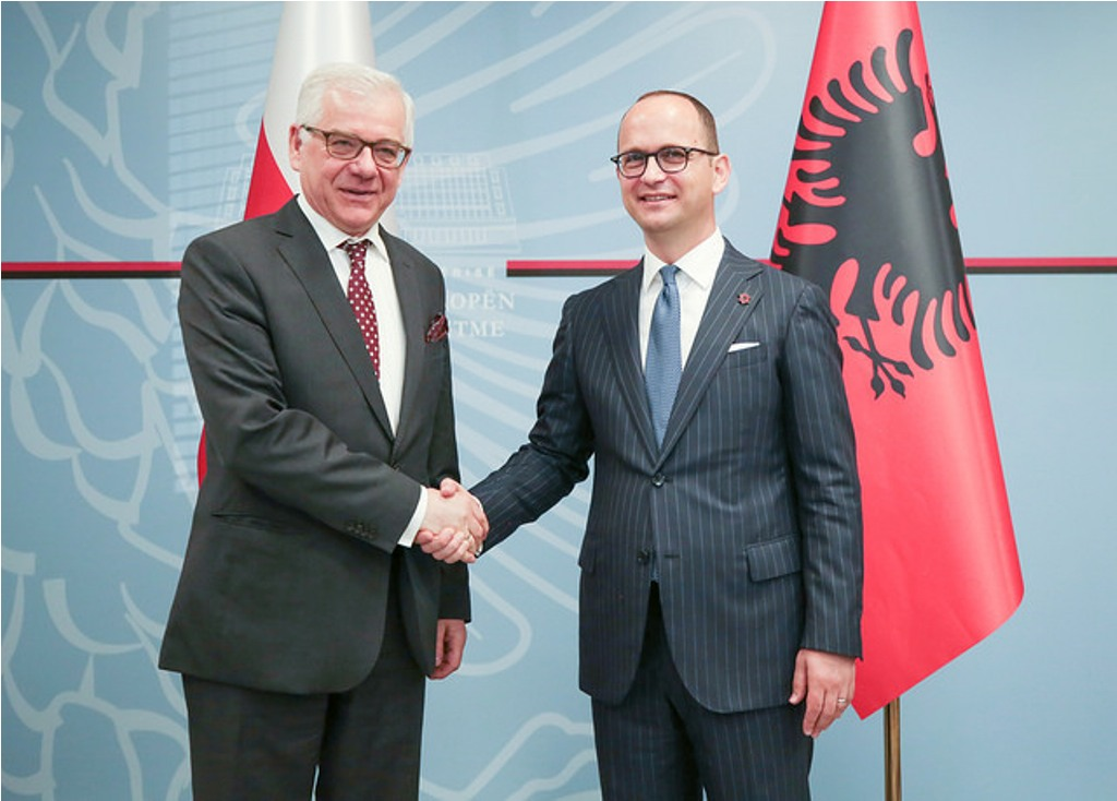Minister Bushati receives Poland's support for the integration of Albania in the EU