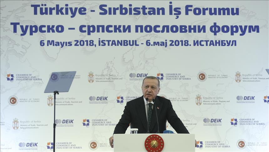 Erdogan praises Serbia, calls it a 'key country' for Balkans' stability