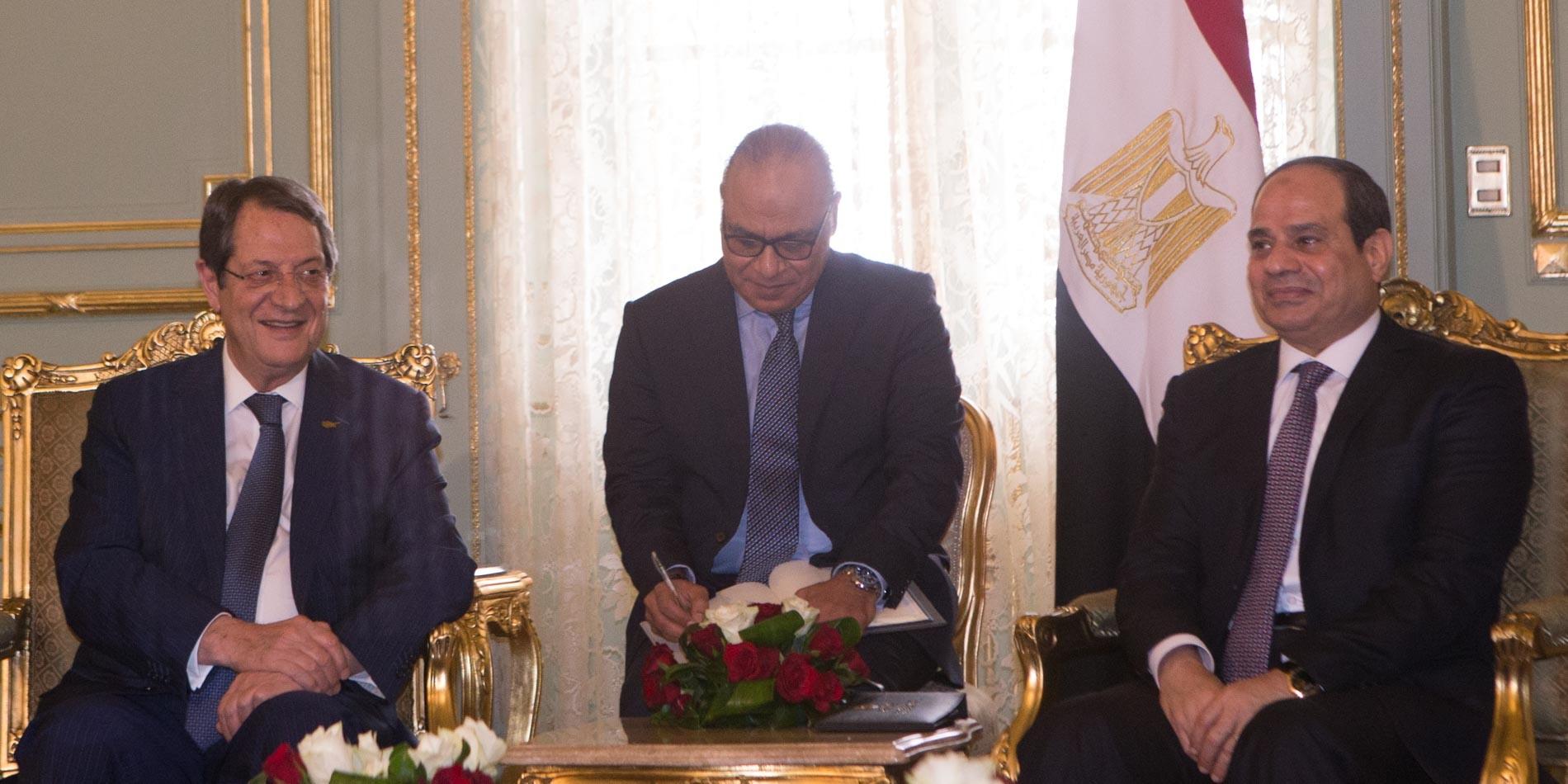 President Anastasiades met with the President of Egypt