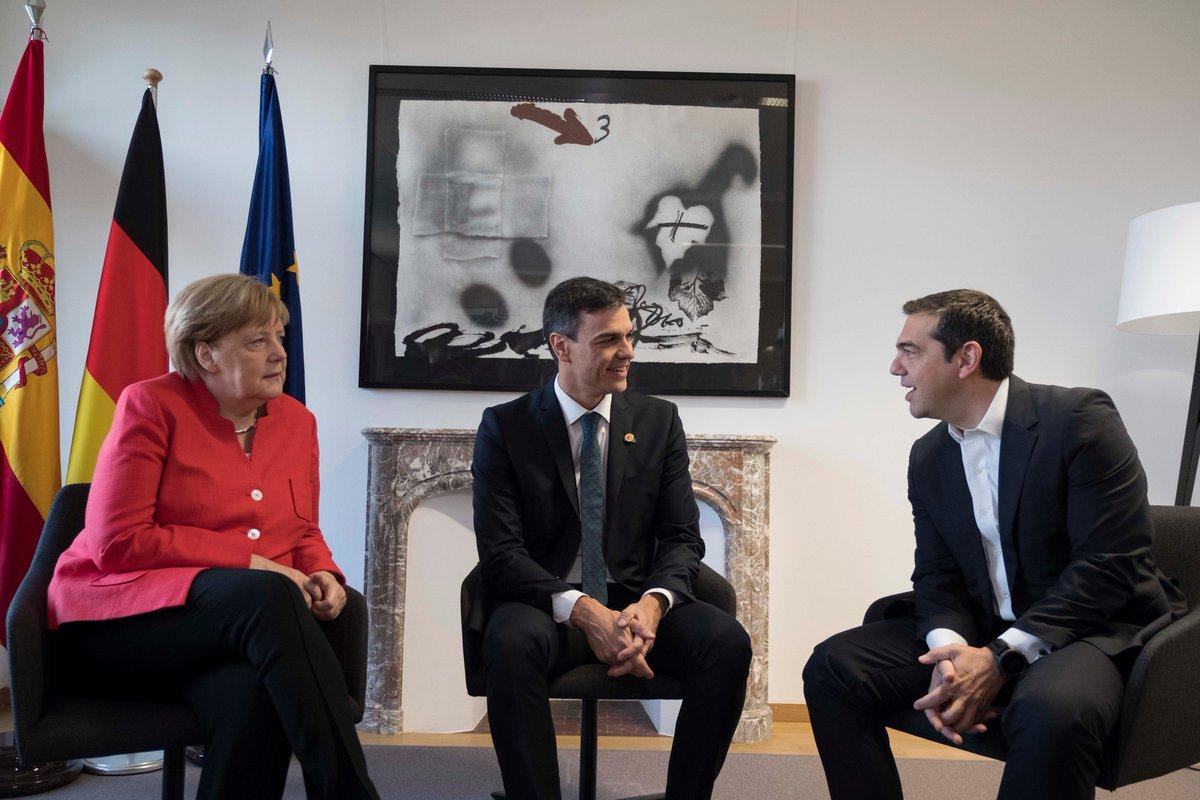 Update: Τριμερής συνάντηση Ελλάδας Γερμανίας Ισπανίας στις Βρυξέλλες