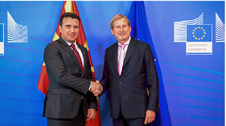 Zaev-Hahn: Intensive 365-day work for fYROMacedonia for a successful negotiation