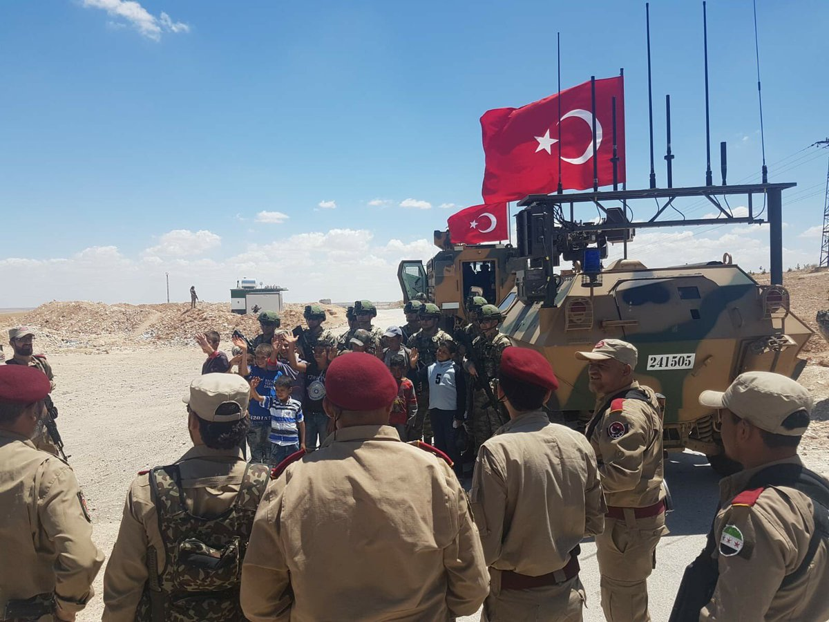 American, Turkish armed forces on 5th patrol round in Manbij