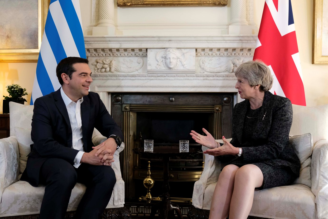 Tsipras and May cover full range of bilateral issues