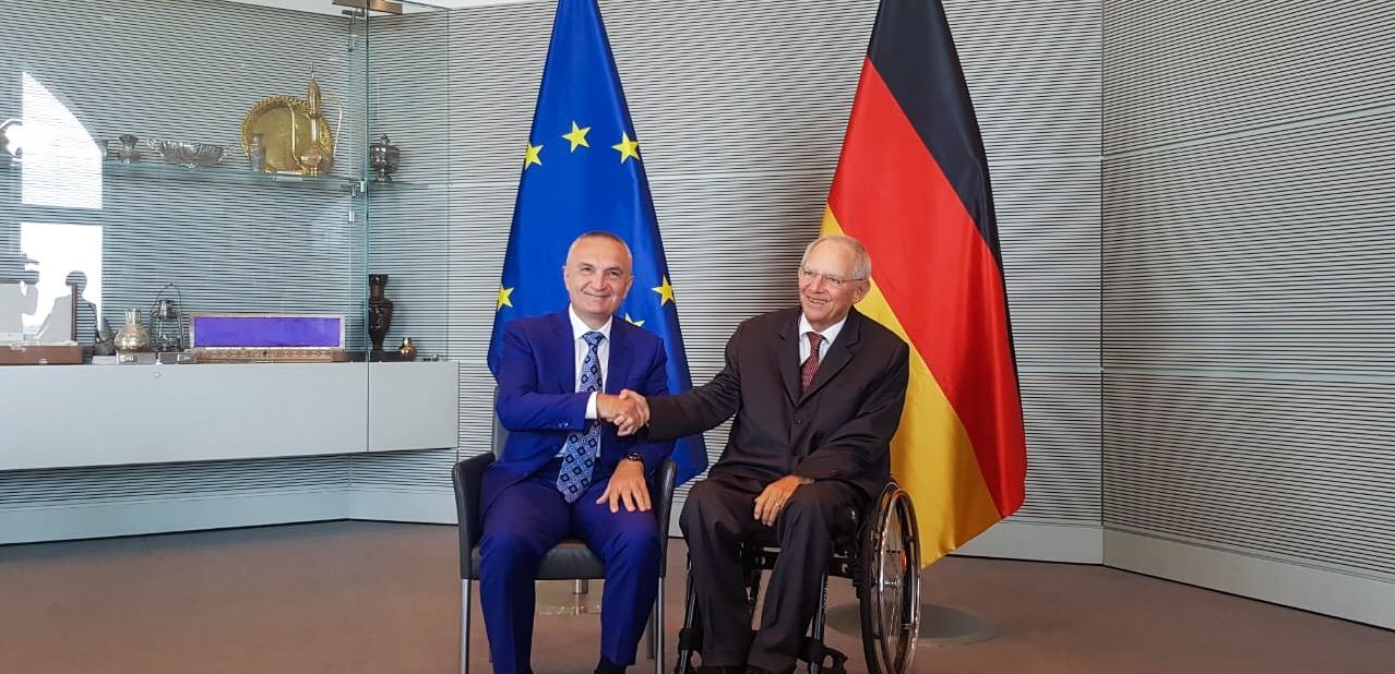 Albanian president meets the president of German Bundestag Wolfgang Schäuble