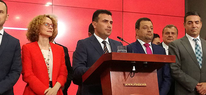 Zaev speaks of 'a historical solution which strengthens the Macedonian identity'