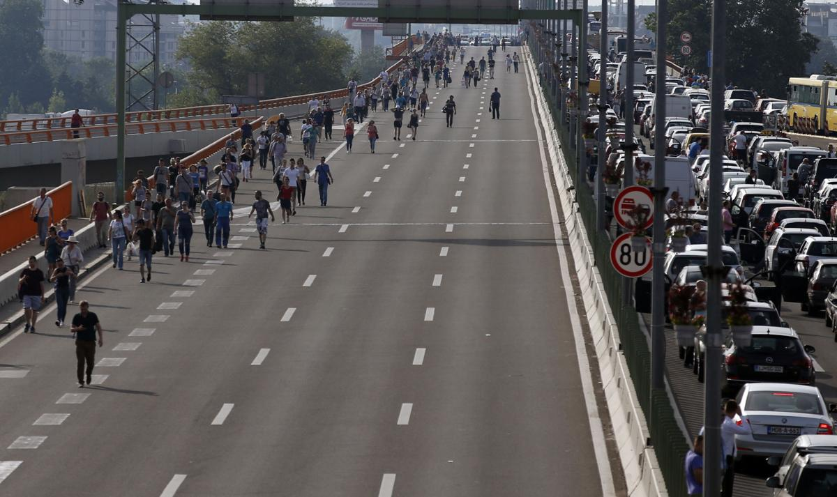 Drivers in Serbia continued their protest over fuel price hikes