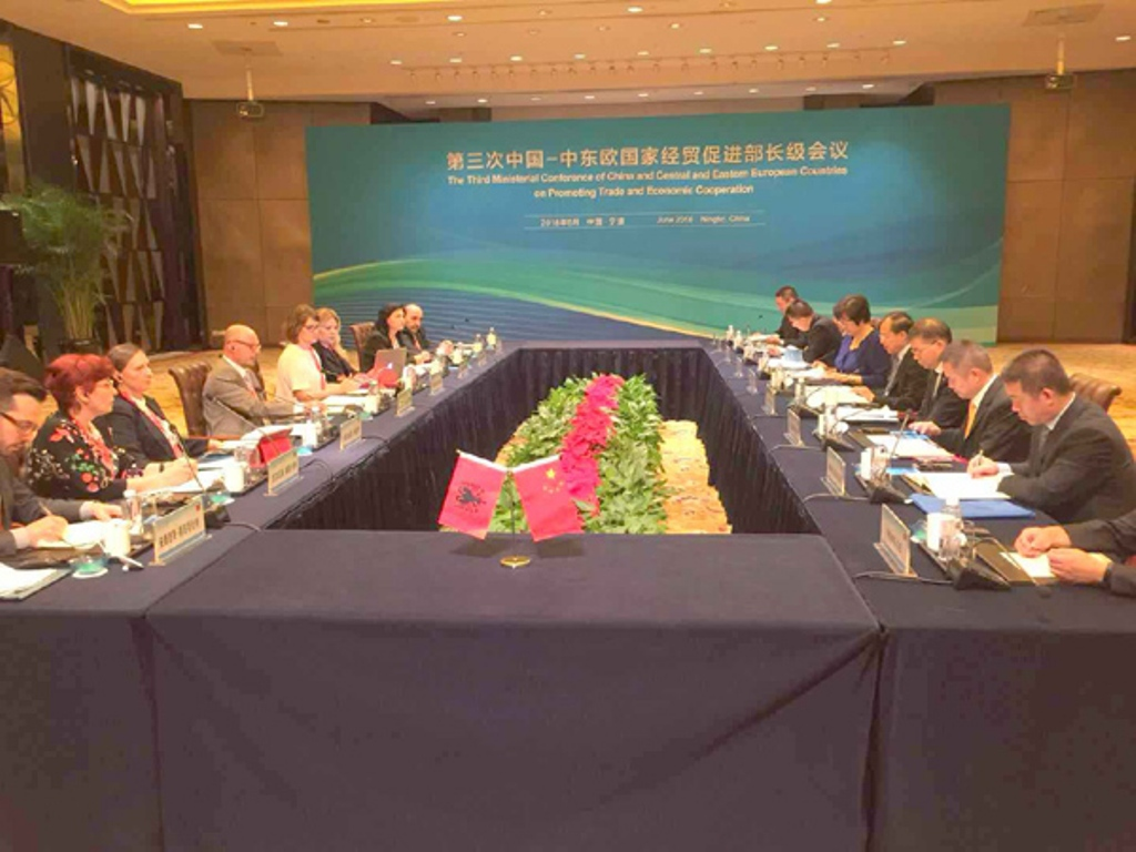 Chinese-Albanian joint economic and trade commission holds a meeting
