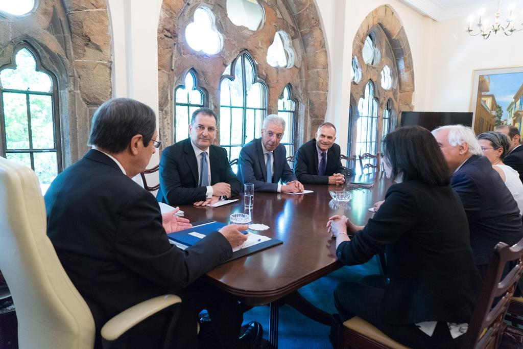 President Anastasiades chaired a meeting on climate change