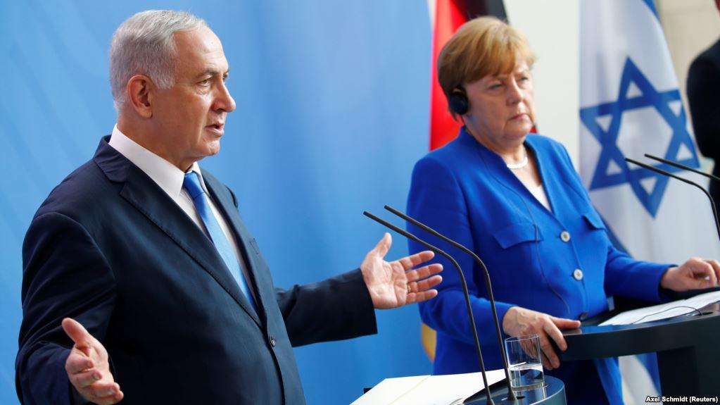 Netanyahu visits Berlin, speaks ofnew refugee wave fromIran that could affect EU