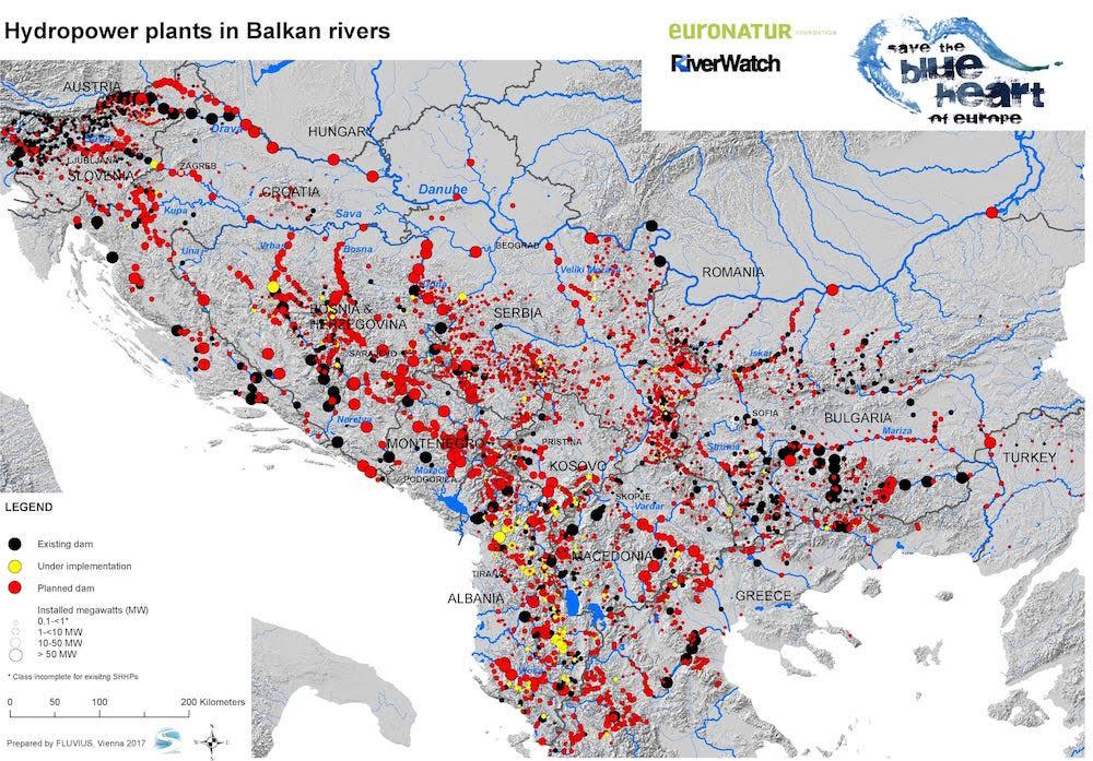 Τα ποτάμια στα Βαλκάνια εκπέμπουν SOS