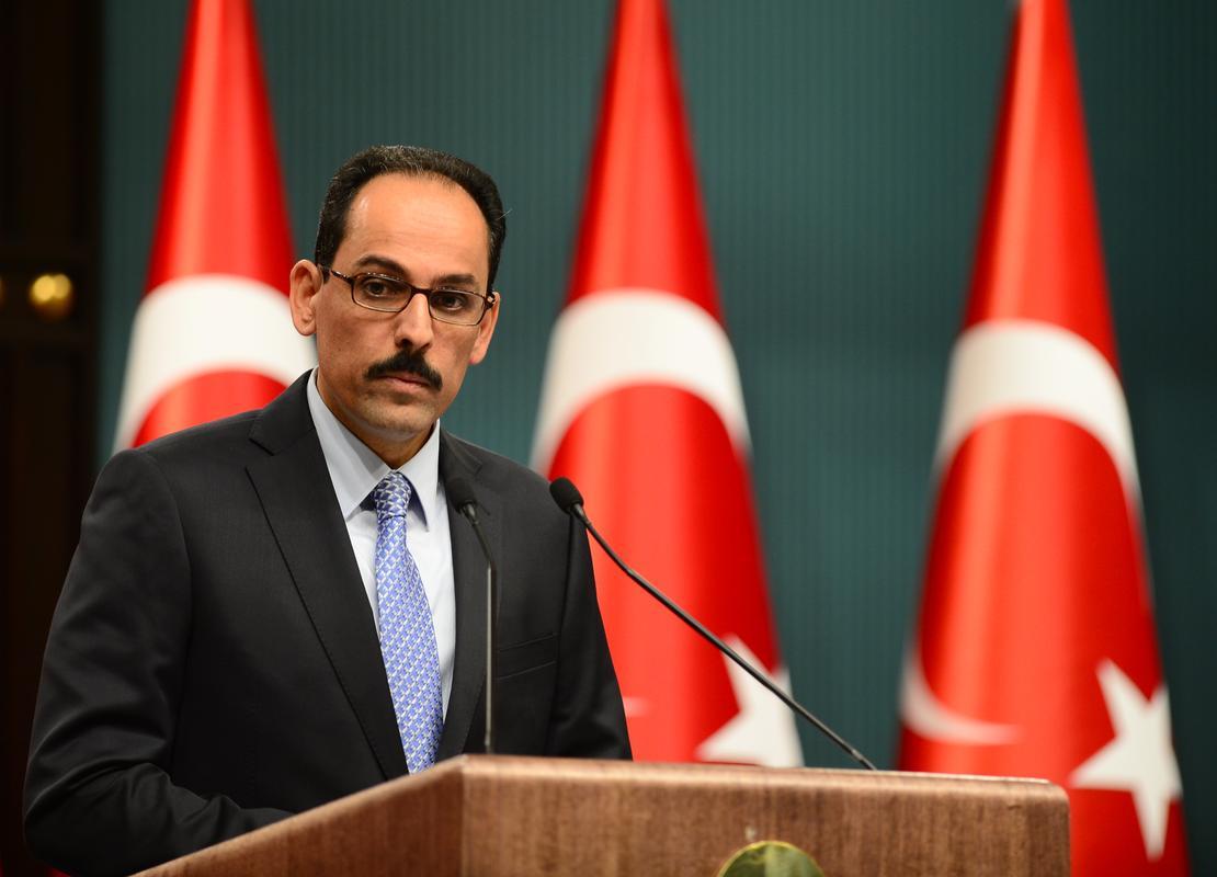 Kalin: Δεν θα δεχτούμε καμιά ενέργεια που έχει στόχο να εγκλωβίσει την Τουρκία στον Κόλπο της Αττάλειας