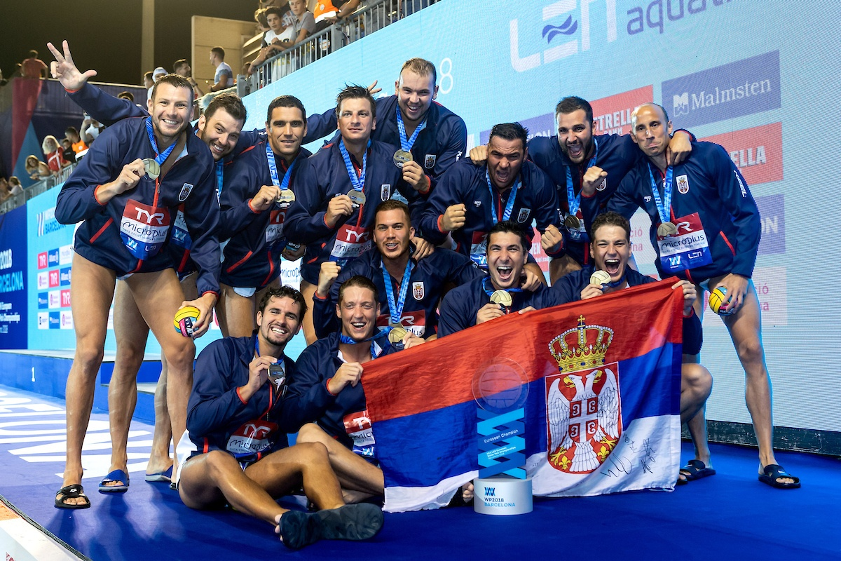 Gold medal for the Serbs at the2018 European water-polo Championship
