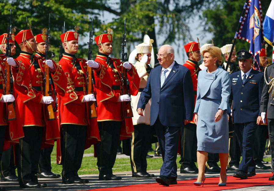Israeli President on state visit to Croatia, attended Croatia-Israel arms industries' conference