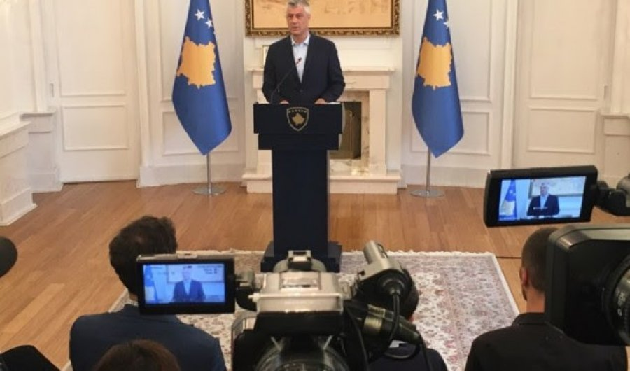 President of Kosovo requires unity of the political spectrum for the dialogue with Serbia