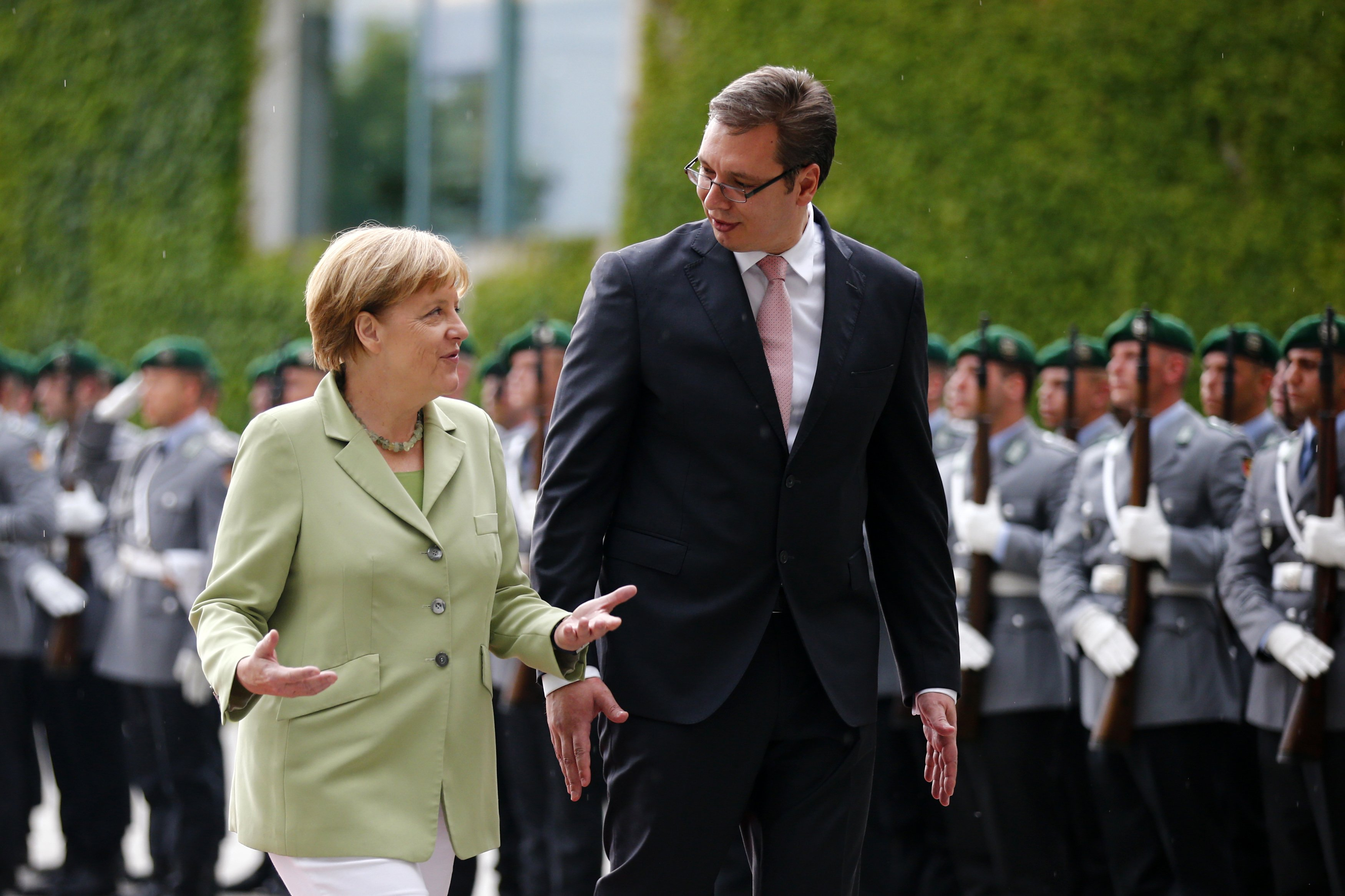 Vucic accepts all of Merkel's demands, opposition leader says