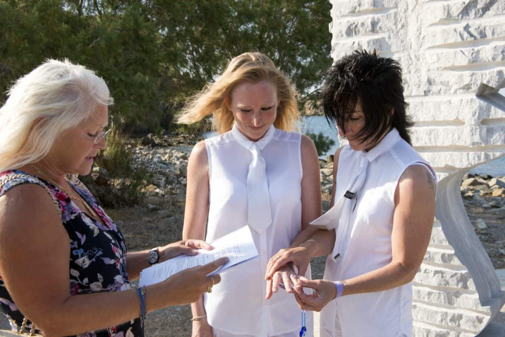 First ever wedding ceremony between two women on Lesbos