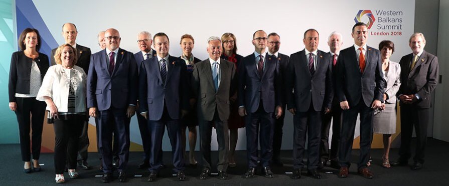 Balkan leaders arrive for London summit