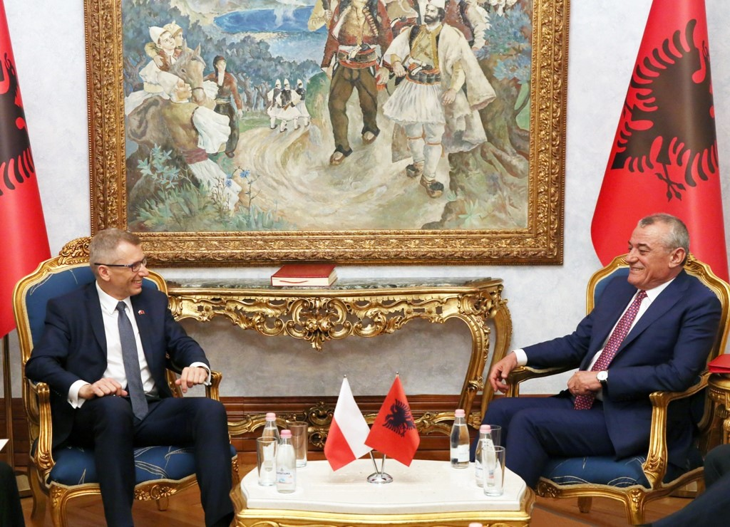 Albanian parliamentary speaker praises relations with Poland