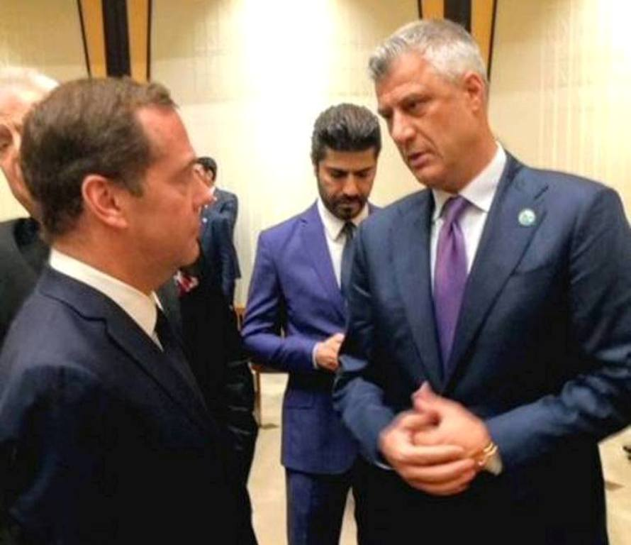 Kosovo's president meets the Russian PM in Ankara