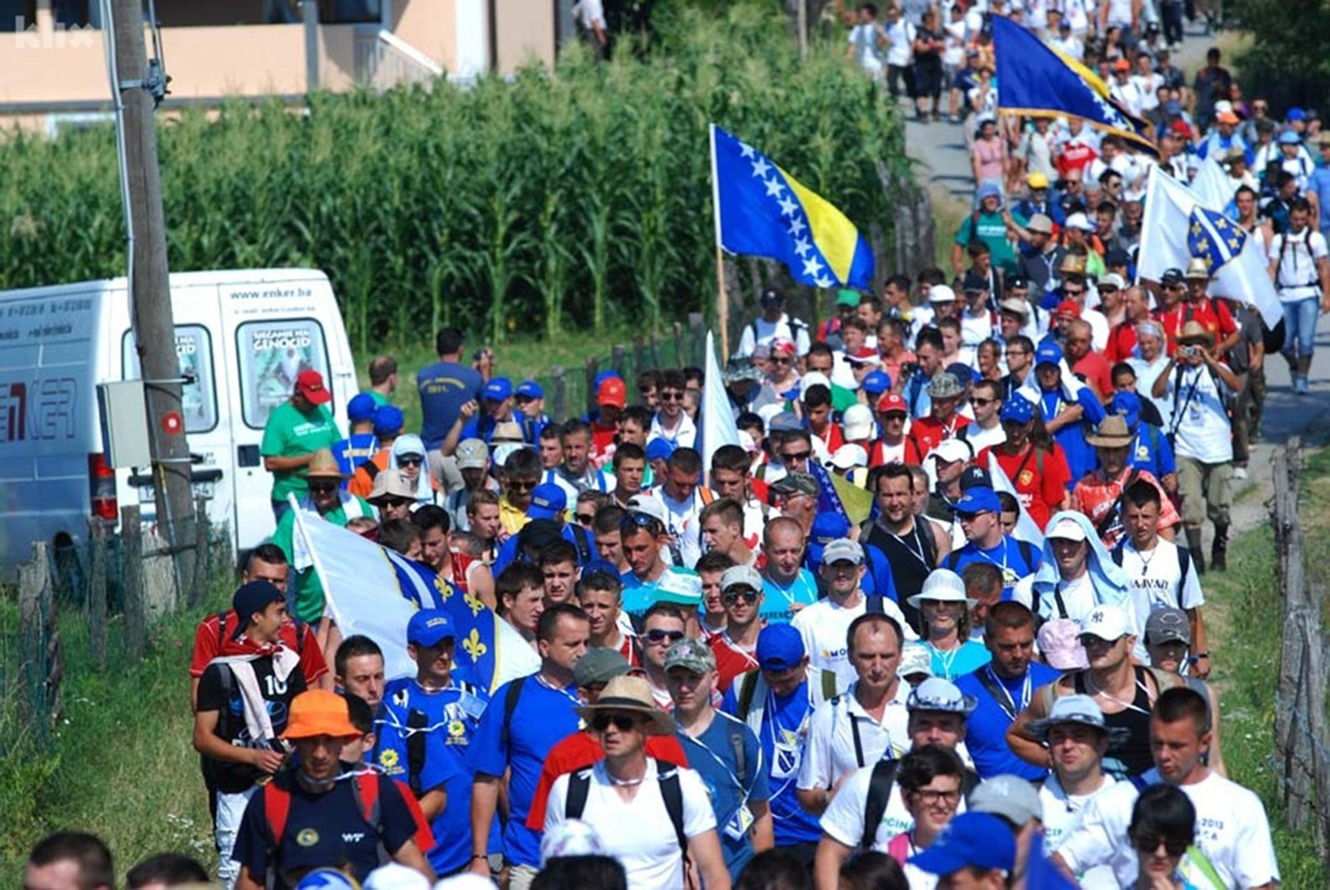 Bosnian 'Mars Mira' on its way, thousands march on 'Death Road'…