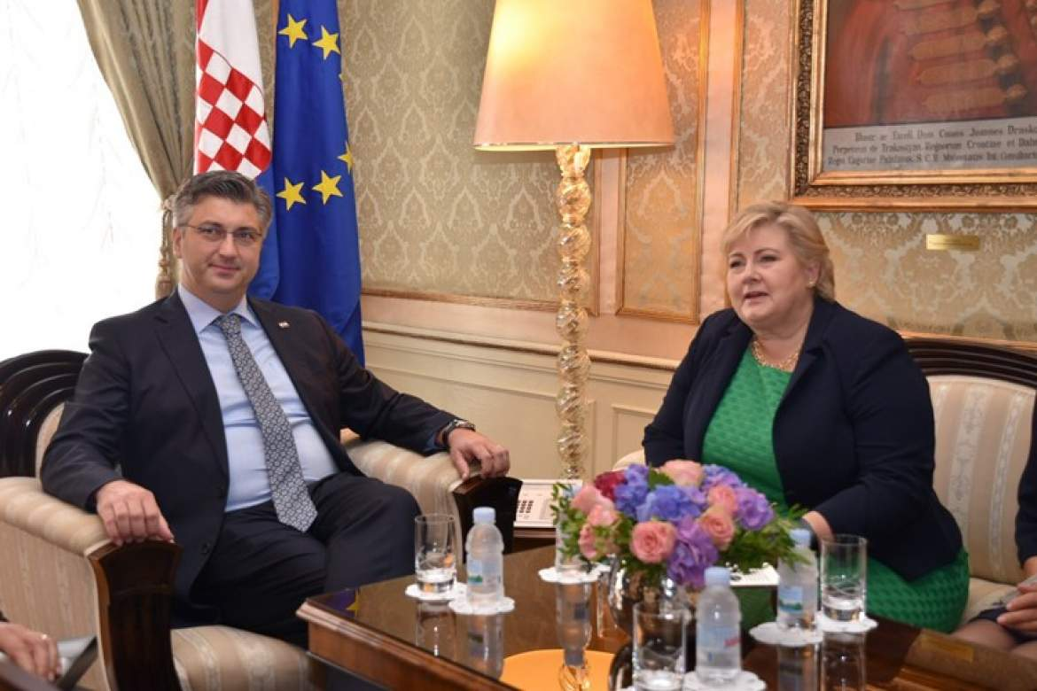 Croatia PM signs co-operation agreements with Norwegian counterpart