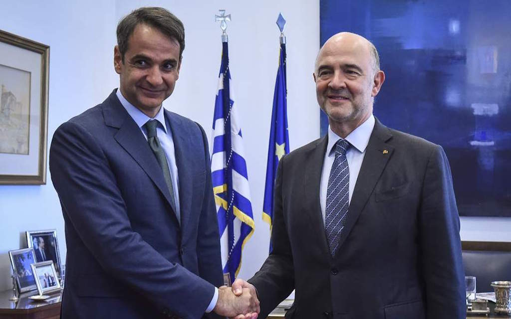 Mitsotakis asks Moscovici to be more careful