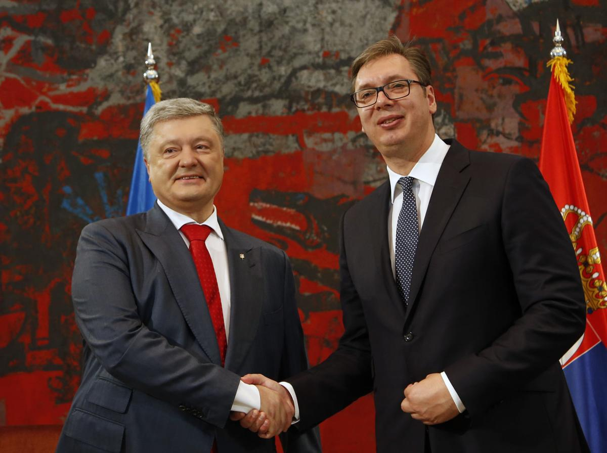 Poroshenko and Vucic consider Ukraine and Serbia to be true friends