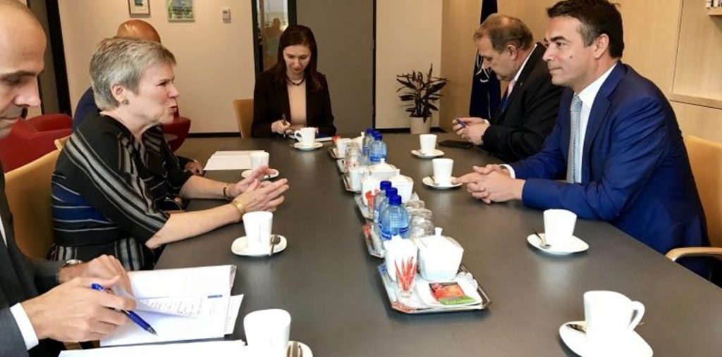 FYROM's Foreign minister Dimitrov in Brussels, the referendum on the focus of the agenda