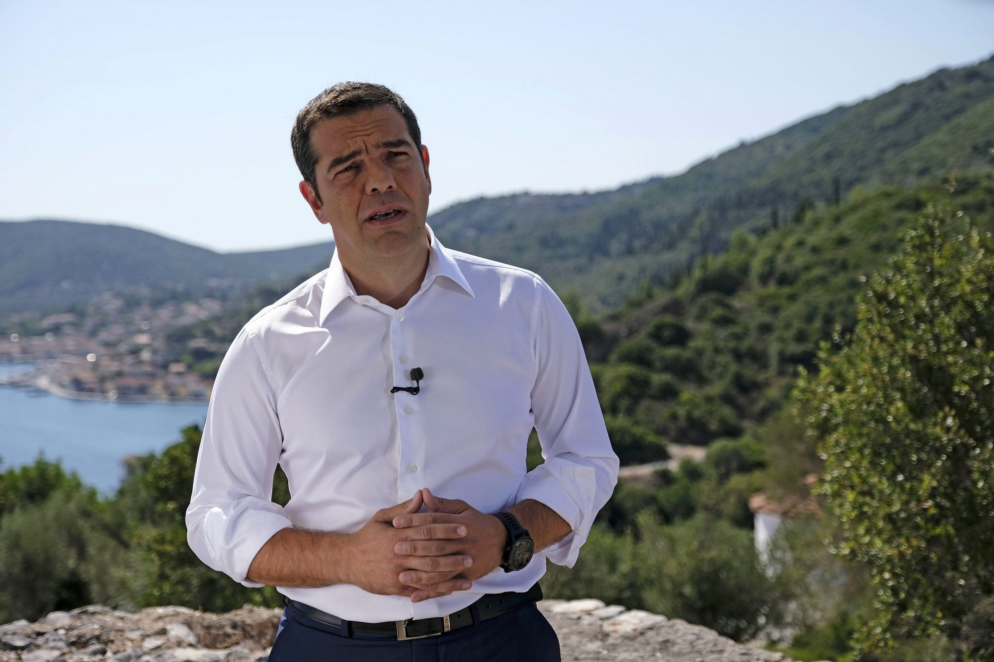 'Today is the beginning of a new era' said Greek PM from Ithaca, opposition condemned speech