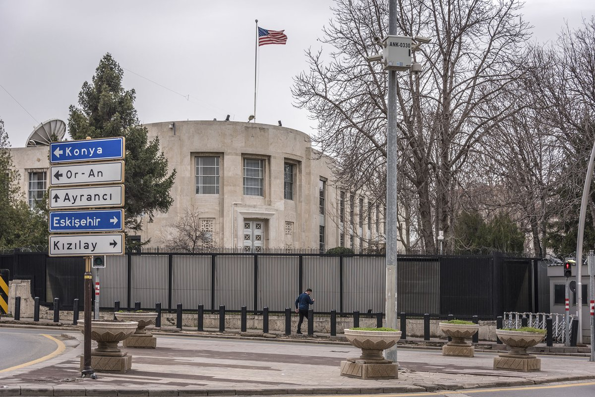 Drive-by shooting without casualties outside the U.S. embassy in Ankara