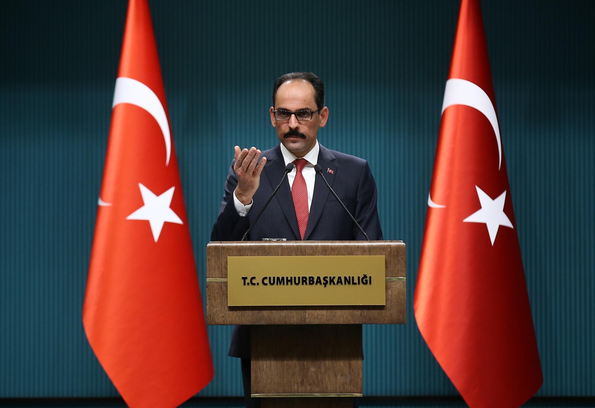 İbrahim Kalın: 'Ankara has been deeply disappointed byWashington's actions'