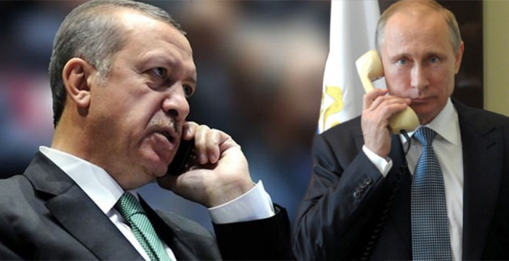 Erdogan, Putin discuss giving a boost to bilateral economic ties on the phone